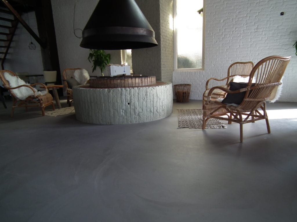 Pu gussboden in betonoptik erholungspark de rimboe dht